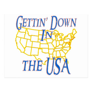 USA - Getting unten Postkarte