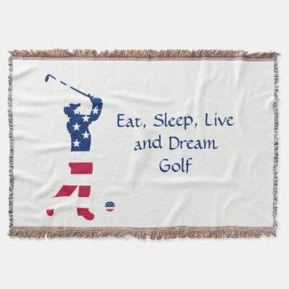 USA-Golf Flaggegolfspieler Decke