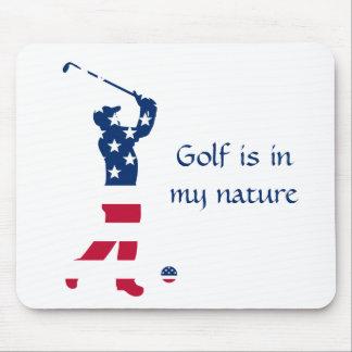 USA-Golf Flaggegolfspieler Mousepad