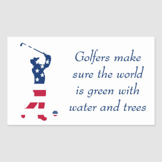 USA-Golf Flaggegolfspieler Rechteckiger Aufkleber