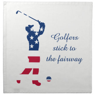 USA-Golf Flaggegolfspieler Stoffserviette