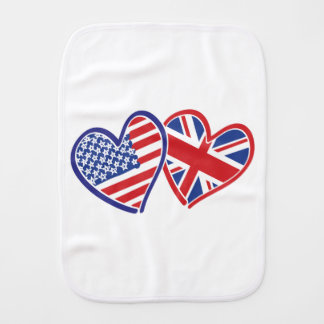 USA---Großbritannien-Liebe Baby Spucktuch