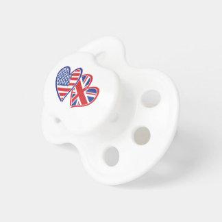 USA---Großbritannien-Liebe Schnuller
