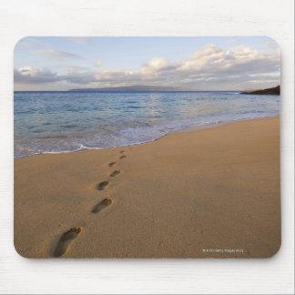 USA, Hawaii, Maui, Wailea, Abdrücke auf Strand 2 Mousepad