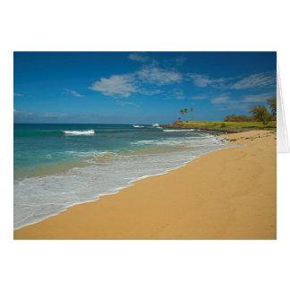 USA, Hawaii, Molokai-Insel, drei Meilen-Strand Karte