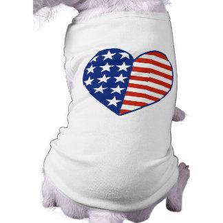 USA-Herz-Haustier-T - Shirt
