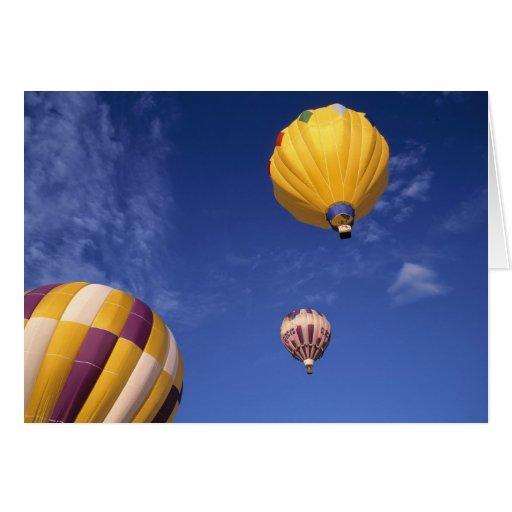 USA, Idaho, Teton Tal. Heißluftballone Grußkarte