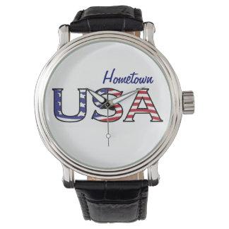 USA Ihr Hometown-US Flagge Uhr
