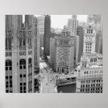 USA, IL, Chicago, Schleife vom Hotel Plakat