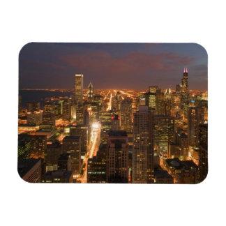 USA, Illinois, Chicago: Abends-Ansicht der Schleif Flexibler Magnet
