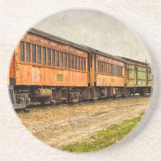 USA, Indiana. Das NordMudson Eisenbahn-Museum Sandstein Untersetzer