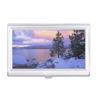 USA, Kalifornien. Ein Wintertag bei Lake Tahoe. Visitenkarten Etui