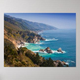 USA, Kalifornien. Kalifornien-Küste, großes Sur Poster