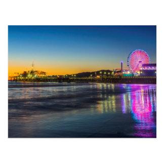 USA, Kalifornien, Los Angeles, Santa Monica Pier Postkarte