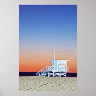 USA, Kalifornien, Los Angeles, Santa Monica Strand Poster