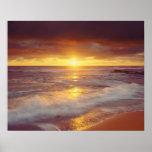 USA, Kalifornien, San Diego. Sonnenuntergang-Klipp Plakate