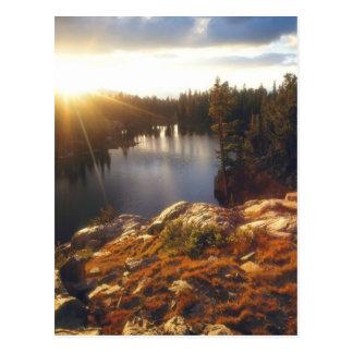 USA, Kalifornien, Sierra Nevada-Berge. Postkarte