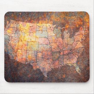 USA-Karte Mauspads