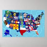 USA-Karten-Staat kennzeichnet Mosaik