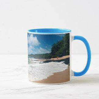 USA, Kauai, Hawaii. Eine Frau schlendert die Tasse