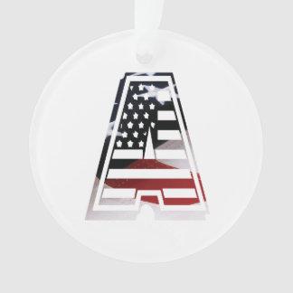 USA kennzeichnen amerikanisches Anfangsmonogramm A Ornament