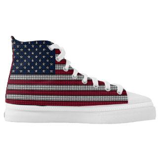 USA kennzeichnen amerikanisches patriotisches Hoch-geschnittene Sneaker