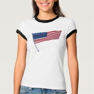 USA kennzeichnen auf einem Pfosten T-Shirt