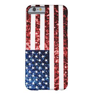 USA kennzeichnen die roten u. blauen Barely There iPhone 6 Hülle