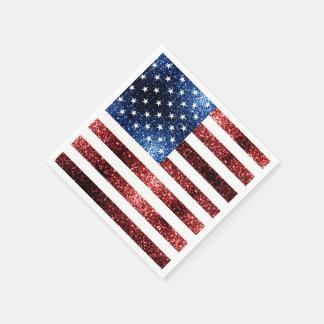 USA kennzeichnen die roten und blauen Papierserviette