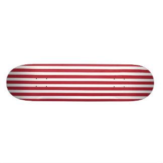 USA kennzeichnen die roten und weißen Streifen Skateboardbretter