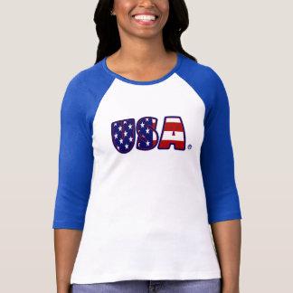 USA kennzeichnen gemusterte fantastische Dame T-Shirt