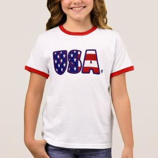 USA kennzeichnen gemusterten fantastischen Ringer T-Shirt