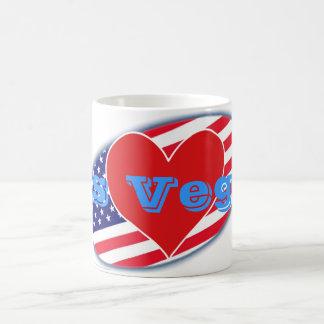 USA kennzeichnen i-Liebe Las Vegas Kaffeetasse