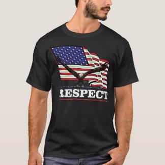 USA kennzeichnen mit Eagle über Respekt T-Shirt