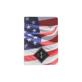 USA kennzeichnen | mit Monogramm Initialen rotes Passhülle