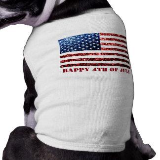 USA kennzeichnen roten blauen Hund der Shirt