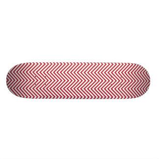USA kennzeichnen roter u. weißer gewellter Skateboard Brett