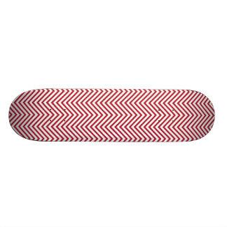 USA kennzeichnen roter u. weißer gewellter Skateboarddeck