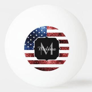USA kennzeichnen rotes und blaues Glitzern-Glitter Tischtennis Ball