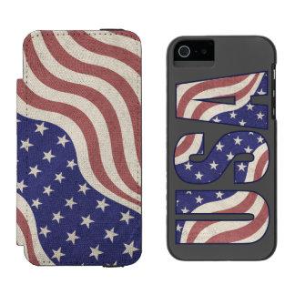 USA kennzeichnen rustikales verwittert Incipio Watson™ iPhone 5 Geldbörsen Hülle