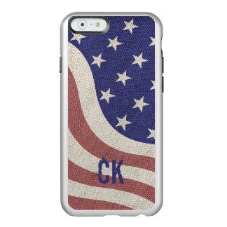 USA kennzeichnen rustikales verwittertes Monogramm Incipio Feather® Shine iPhone 6 Hülle