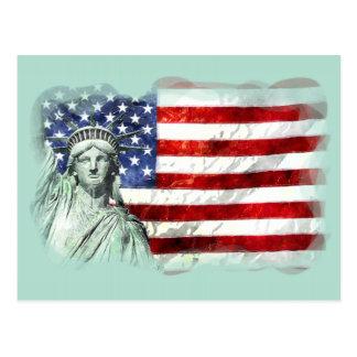 USA KENNZEICHNEN U. FREIHEIT POSTKARTE