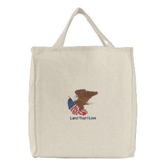 USA kennzeichnen und Eagle Leinentaschen