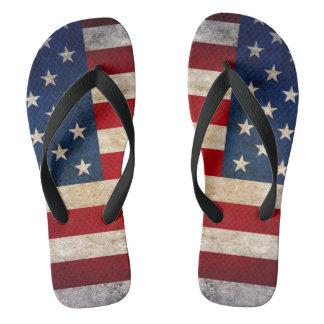 USA kennzeichnen weiter von Unisex Juli-Streifen Flip Flops