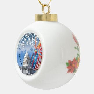 USA KERAMIK Kugel-Ornament