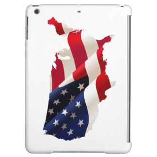 USA-Kontur iPad Air ケース des Falles Savvy glatte