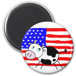 USA-Kuh-Magnet Runder Magnet 5,7 Cm