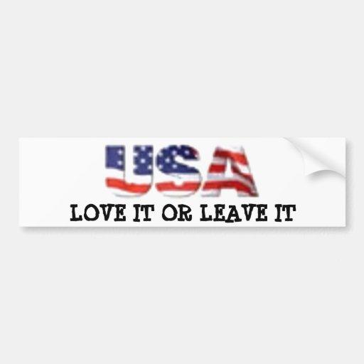 USA-Liebe verlässt es oder es Autosticker