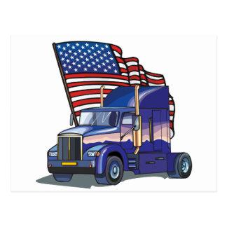 USA-LKW-Fahrer Postkarte