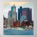 USA, Massachusetts. Boston-Ufergegend-Skyline Poster
